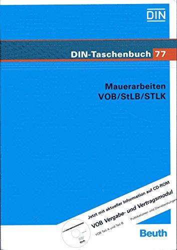 Bauleistungen 8. Mauerarbeiten VOB / StLB / STLK. Normen