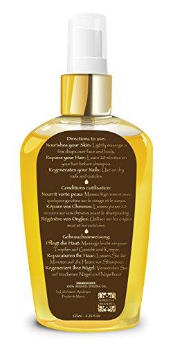 100% Reines Arganöl: Gesichtsöl, Haaröl, Körperöl, 125ml -Bio Kaltgepresstes Basisöl, Organisch Zertifiziert. Bio Öl für Haare : Sprühkur / Haarkur, Haarpflege Besser Als Eine Pflegende Haarmaske. Stärkt bei Haarausfall – Öl für Körper:Arganöl Haut Für Trockene Haut.Dehnungsstreifen Öl während der Gewichtsverlust/Anti Cellulite Pflege : Hilfe bei Orangenhaut und Cellulitis.Gegen Schuppenflechte.Öl Für Gesicht:Pflege Mit Vitamin E, Anti-Aging Gesichtsserum, Gegen Hautausschlag. - 6
