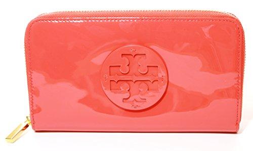 Tory Burch Portemonnaie mit Reißverschluss, gestapelt, Poppy Coral