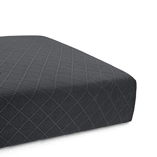 CHUN YI Rhombus Elastisch Sofaüberzug, Sofahusse, Sofabezug für Sofa, Sofaschutz (Sitzkissen-2, Grau)