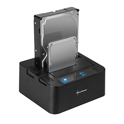 Sharkoon SATA QuickPort Duo USB 3.0 HDD-Dockingstation für SATA-Festplatten Quickport Single