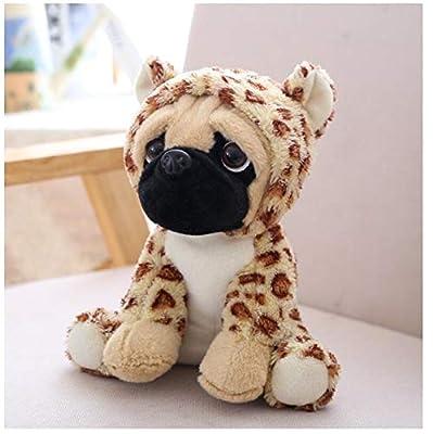 WHKJ Peluche Simulación Perros Felpa Sharpei Pug Encantador Cachorro Mascota Juguete Peluche Animal Juguete Niños Niños Cumpleaños 20CM por WHKJ