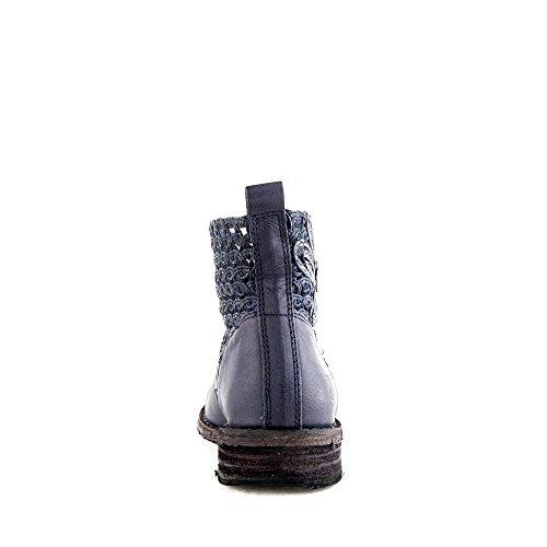 Felmini - Chaussures Femme - Tomber en amour avec Gredo 8346 - Bottines Cowboy & Biker - Cuir Véritable - Bleu Bleu