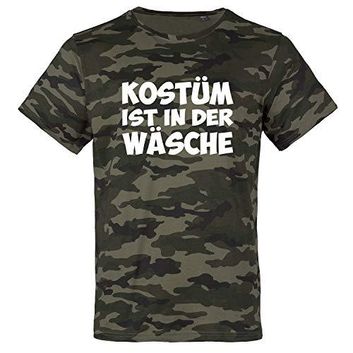 Herren Outlaw Kostüm - OutlawTex - Kostüm Ist In Der Wäsche - Herren T-Shirt Tarnfarben Wood XL