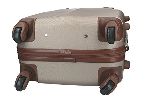 41rIe9D2QXL - Maleta rígida PIERRE CARDIN oro mini equipaje de mano ryanair 4 ruedas VS164