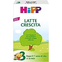HiPP - Latte 3 Crescita, In Polvere, 4 Confezioni Da 500 G - 2000 g