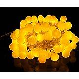 Samgu Balle Lumière 40 leds guirlande lumière décoration pour maison magasin restaurant jardin fenêtre / led lampe 4m (Jaune)
