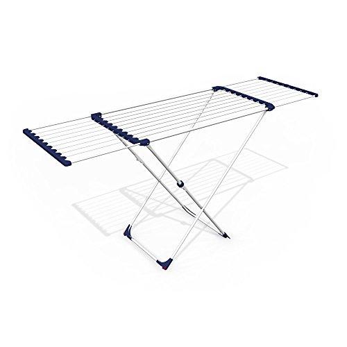 Gimi Albatross Tendedero de pie extensible de acero, 20 m de longitud de...