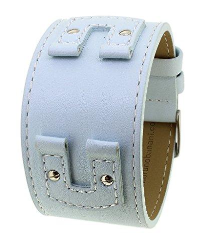 Bruno Banani Unterlagenband Uhrenarmband Leder hellblau für XT Evolution Square Ladies BR20662
