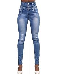 Ghope Slim Skinny Taille Haute CaRougete Stretch Leggings Pantalon Collants Jeans denim