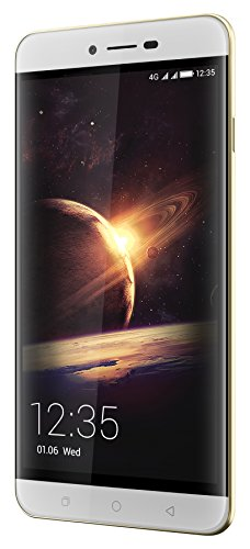 Coolpad Torino Smartphone (13,9 cm (5,5 Zoll), IPS Display, 16 GB, Android 5.1) weiß/Gold