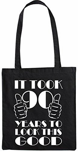 Mister Merchandise Tasche It took 90 Years to look this Good Stofftasche , Farbe: Schwarz Schwarz