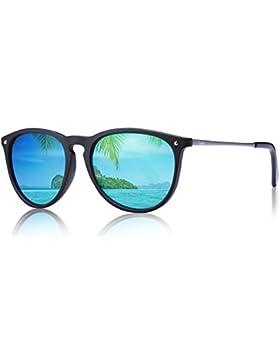 Gafas de Sol Polarizadas, Carfia UV400 Gafas de Sol Polarizadas Metal de Moda para Conducción Pesca Esquiar Golf...