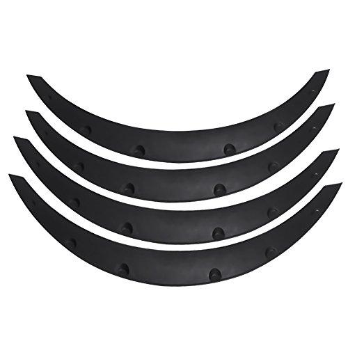 Auto Kotflügelverbreiterung,Auto Radlauf Kotflügel Schutzleisten Kotflügelverbreiterung Verbreiterung Universal 4 Stücke schwarz für meistens Autos, Offroad, SUV usw.80 * 32 * 12cm