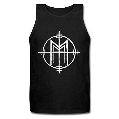 RORO Men's Marilyn Manson Teases New Album Tank-tops Black XX-Large