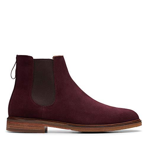 Clarks Herren Clarkdale Gobi Chelsea Boots, Braun Burgundy Suede, 42.5 EU -