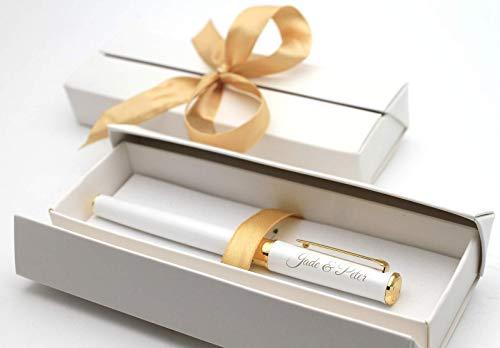 Personalisierter Metall Kugelschreiber Kuli Stift + Geschenkbox | Hochzeit Weihnachten Geburtstag Valentinstag Muttertag Geschenk (Kugelschreiber Geschenk Personalisierte)