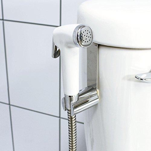 modona Premium WC-Spray & Bidet Set-Weiß & Chrom poliert-5Jahr Vorteil