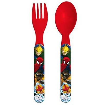Set di posate di Spiderman, in plastica, per bambini