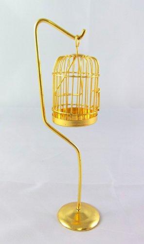Miniatura Per Casa Delle Bambole 1:12 Scala Vittoriano Animale Domestico Accessorio Ottone Gabbia Per Uccelli & Mensola