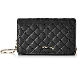 Love Moschino - Borsa Nappa Pu Quilted, Shoppers y bolsos de hombro Mujer, Negro (Nero), 6x13x23 cm (B x H T)