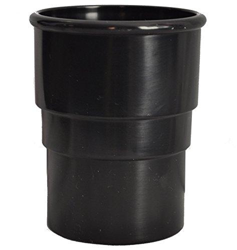 Rund Fallrohr Kupplung–Schwarz–5Stück