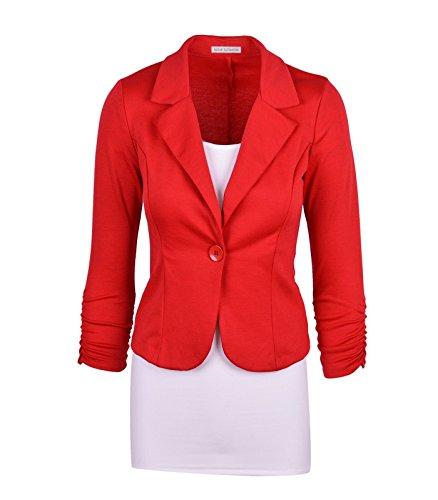 Aisuper - Giacca da abito - Maniche lunghe  -  donna Red