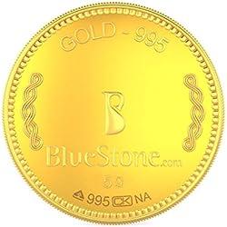 BlueStone BIS Hallmarked 5 grams 24k (995) Yellow Gold Precious Coin