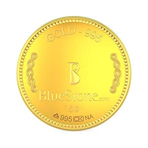 BlueStone BIS Hallmarked 5 grams 24k (995) Yellow Gold Precious Coin