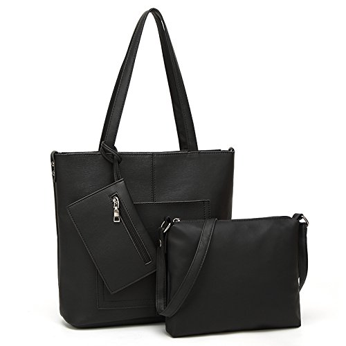 Mefly Moda Per Donna Borsa Tracolla Borsa Composito Bulk Marrone black