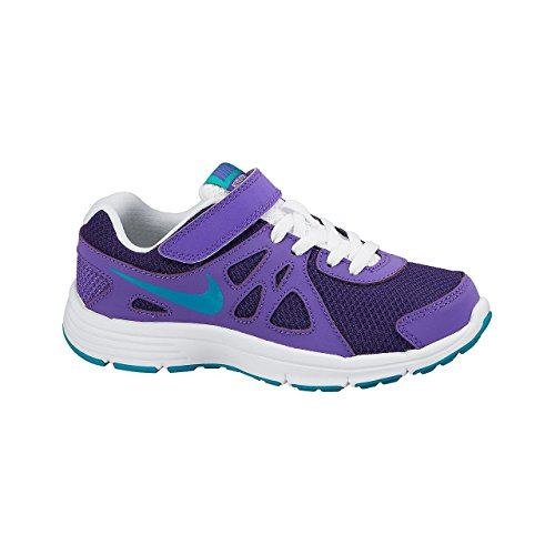 Nike Mädchen Revolution 2 (PSV) Laufschuhe, Morado (Crt TRB Grn-Prpl Vnm-Whit), 33.5 EU - Mädchen 2 Nike Revolution