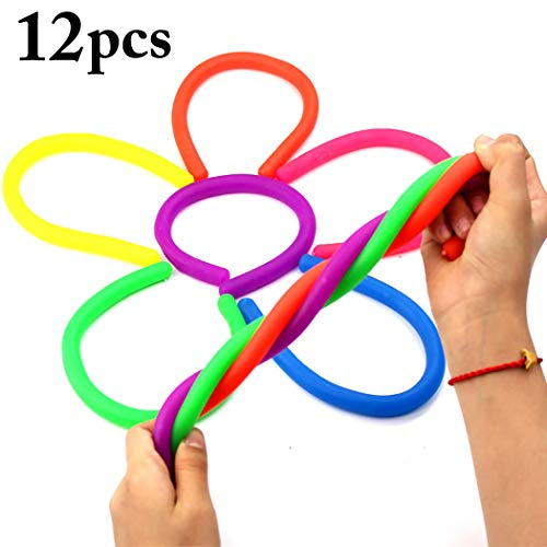 12PCS Stretchy Strings Elastic Funny Sensory Toys Stress Relief Toys Stress Toys for Children