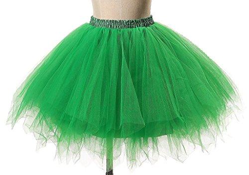 Albrose Damen Unterrock Einheitsgröße Grün