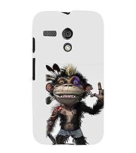 EPICCASE Monkey Rap Mobile Back Case Cover For Moto G (Designer Case)