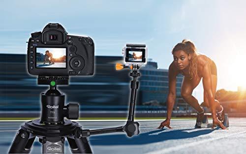 Rollei Gelenkstativ - EIN Flexibler Magic Arm/Gelenk Arm für die Befestigung von zusätzlichem Zubehör wie Ihr Smartphone I bis zu 1kg Traglast