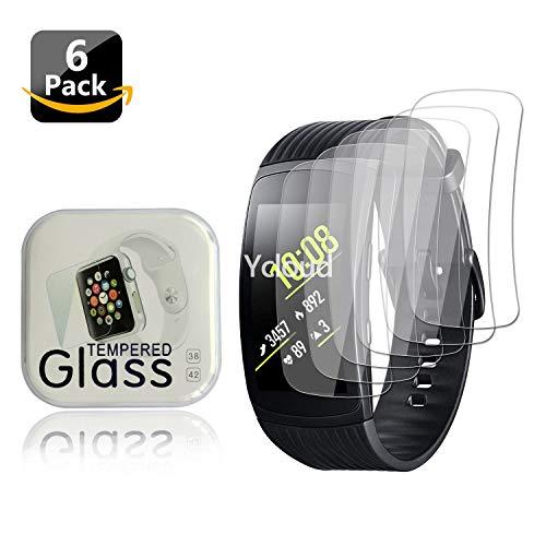 Ycloud [6 Stück PET Schutzfolie Displayschutzfolie für Samsung Gear Fit2 Pro SM-R365 Smartwatch HD klar Flexible Folie mit Anti-Kratzer Blasenfrei