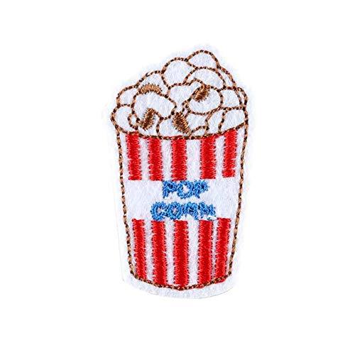 CAOLATOR Patches für Kleidung Aufnäher Applikation 10 Stück Popcorn Flicken Nähen Patches Aufbügelflicken Applikation DIY Kleidung Patches für T-Shirt Jeans Taschen Schuhe Hüte -