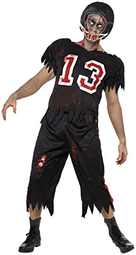 SMIFFYS Costume High School Horror Footballer Americano, comprende Top, Pantaloni e Casc
