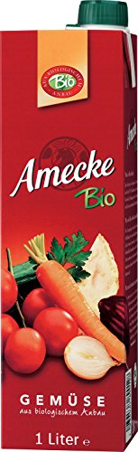 Amecke Bio Gemüse - 100% Saft, 1er Pack (1 x 1 l)