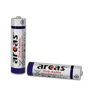 Arcas 10700806 R6 AA 1.5 V Battery - Multicolour (Pack of 8)