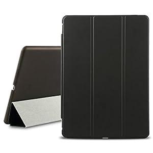 Protection complète.  L'iPad housse protège aussi bien le dos que l'écran de l'iPad, sans compromettre son design plus fin et plus léger.  Matériel fin.  La housse est faite de polyuréthane teint à l'aniline et se décline en neuf coloris raffinés. Sa...