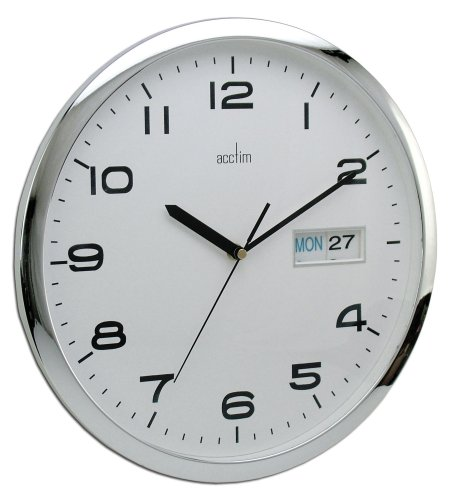 Lieblich Acctim 21027 Supervisor Day/Date Wall Clock, White