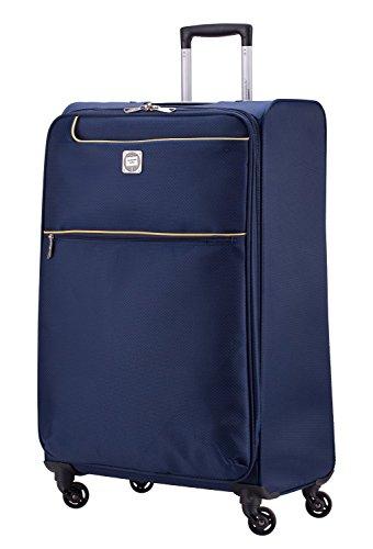 HAUPTSTADTKOFFER® 79 Liter (ca. 70 x 45 x 25 cm) Weichgepäck · Reisekoffer · MITTE LIGHT · in verschiedenen Farben (Blau) Blau
