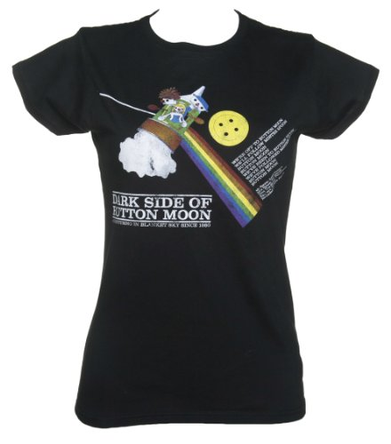 Dark Side Of The Button Moon Damen T Shirt - Dark Side Vintage-t-shirt
