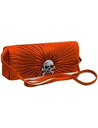 Mesdames sac à main d'embrayage avec un design élégant avec un crâne en couleurs élégantes de satin de velours