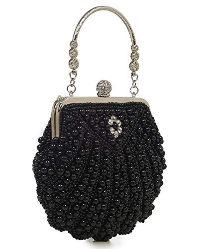 Banned Eleanor 20er Jahre Vintage Clutch Tasche (Schwarz)