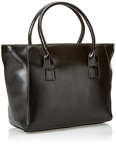 Gaudì Shopping Linea Audrey, Borsa a Mano Donna, 31 x 27 x 15 cm (W x H x L) Nero (Black)
