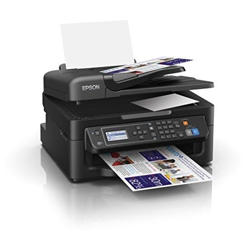 Epson WorkForce WF-2630WF Tintenstrahl-Multifunktionsgerät (Drucker, Scanner, Kopierer, Fax, WiFi) schwarz