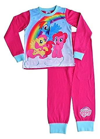 Girls My Little Pony Long Pyjamas Pjs Nightwear MLP Ages 5 to 10 Years W16 (9-10 Years)