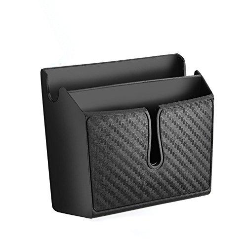 Silence-Shopping Boîte de téléphone Portable de Voiture, Type de pâte Carbone Box de Fibre de Carbone (Petit)